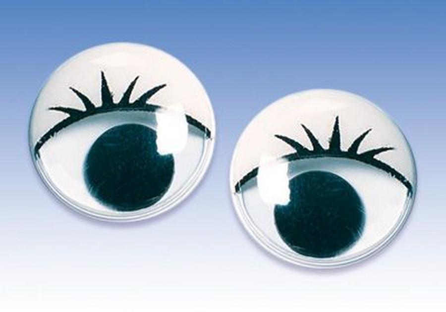 Глаза для игрушек с ресницами 7 мм, купить  - магазин АртДекупаж