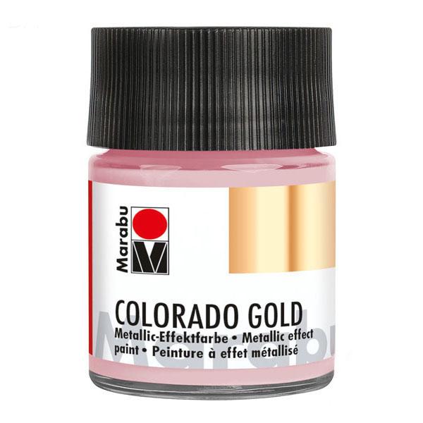 Краска с эффектом металла Colorado Gold розово-золотой Marabu