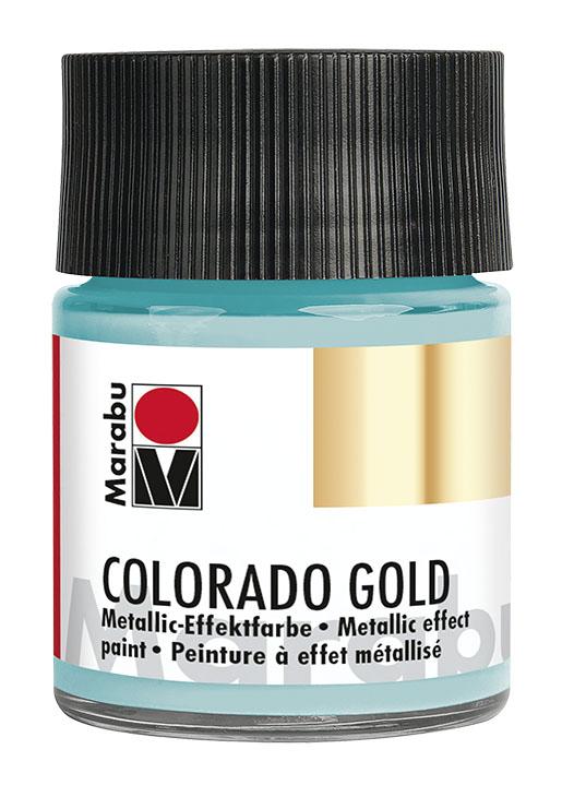 Краска с эффектом металла Marabu Colorado Gold 758 бирюзовый