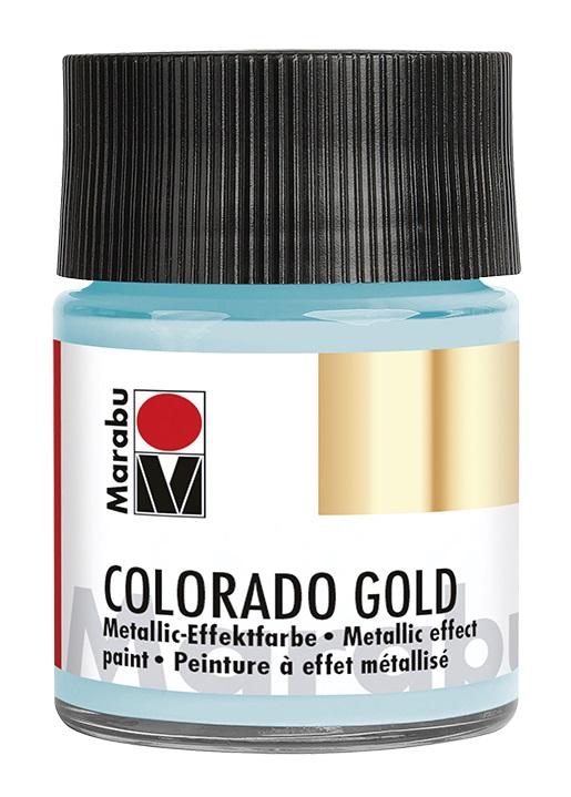 Краска с эффектом металла Marabu Colorado Gold 764 серебряный голубой