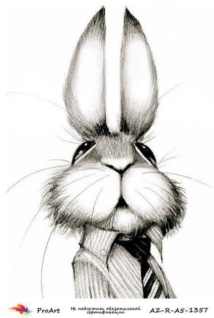 Смешные нарисованные кролики картинки, открытка