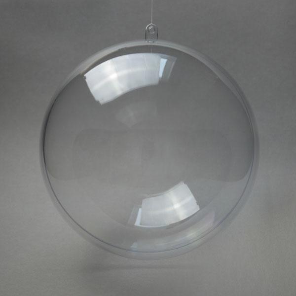 Заготовка ёлочный Шар из прозрачного пластика