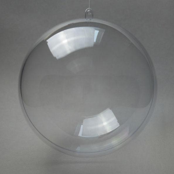Заготовка ёлочный Шар большой 18 см, прозрачный пластик