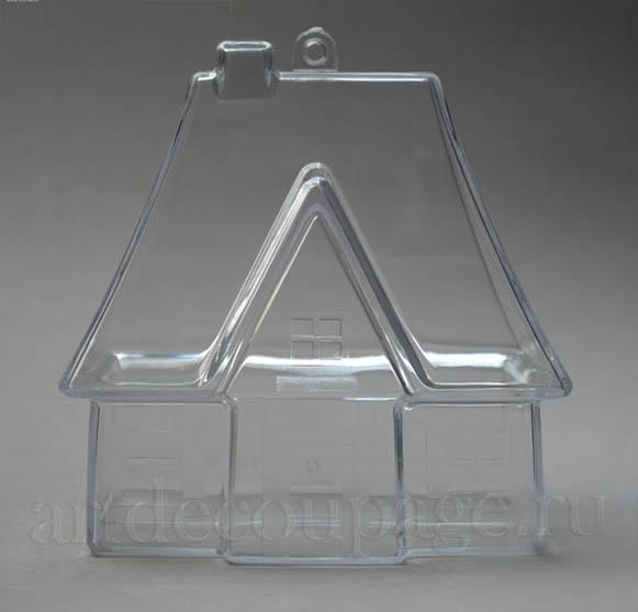 Заготовка фигурка Домик для саше из прозрачного пластика