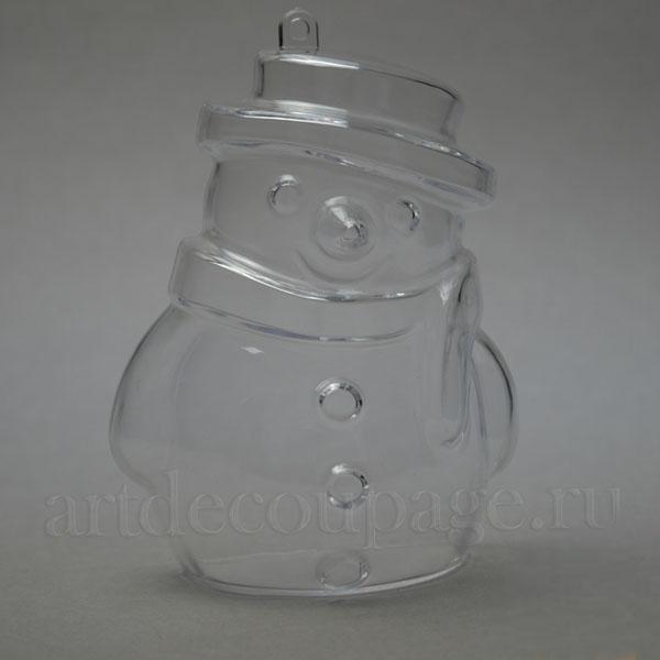 Заготовка фигурка Снеговик из прозрачного пластика