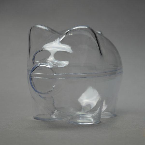 Заготовка ёлочной игрушки Свинья-копилка из прозрачного пластика