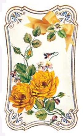Декупажные карты с золотыми фрагментами Жетые розы в золотых рамочках, купить