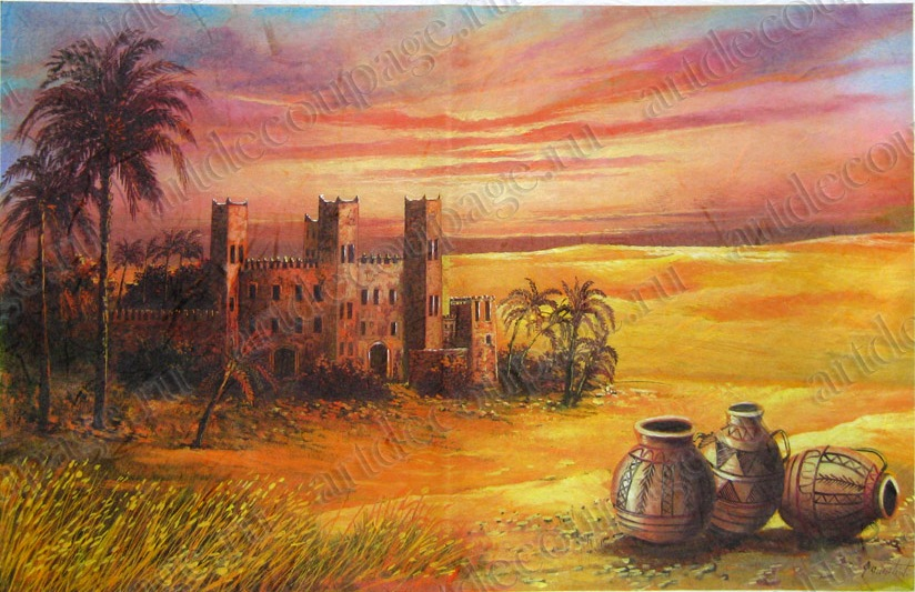 Декупажная рисовая карта Renkalik , Африка, Агадир, старая крепость, пейзаж, купить - магазин АртДекупаж
