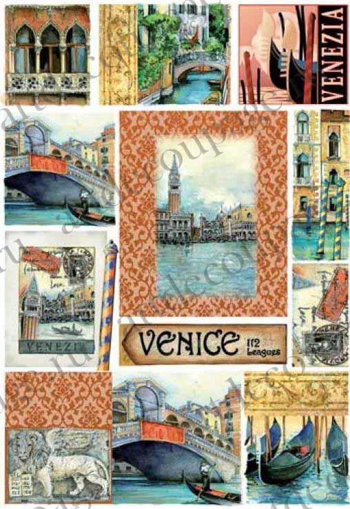 Рисовая бумага для декупажа, города, Венеция, купить