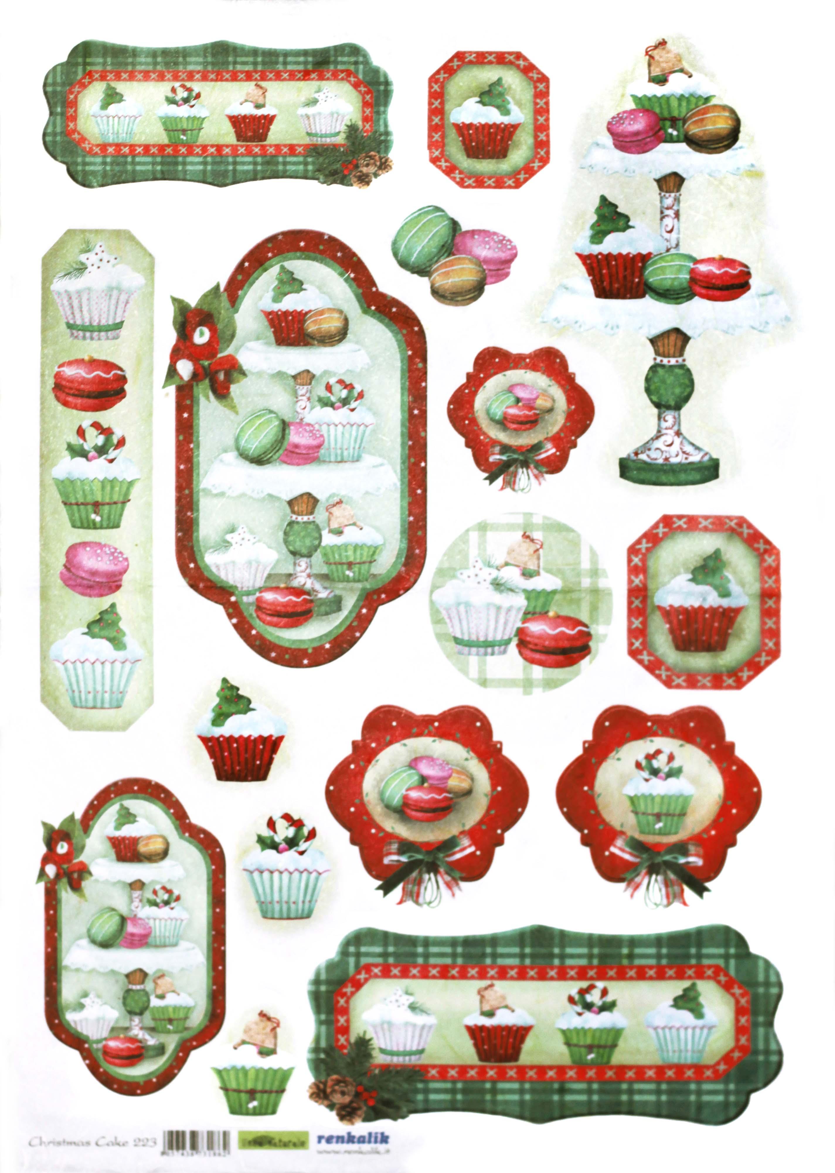 Рисовая бумага для декупажа Рождественская выпечка, купить - магазин АртДекупаж