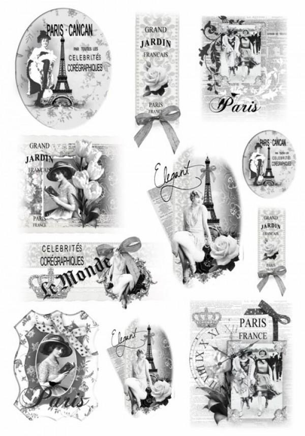 Рисовая бумага для декупажа Ретро Париж Renkalik