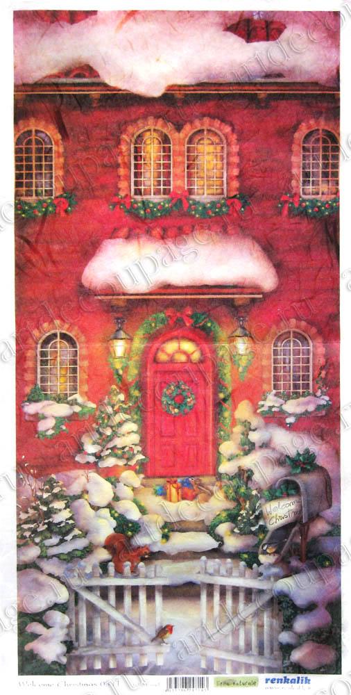 Рисовая бумага для декупажа новогодняя, рождественская, купить