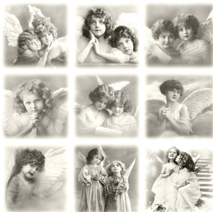 Салфетки для декупажа Винтажные ангелы Sagen Vintage Design купить