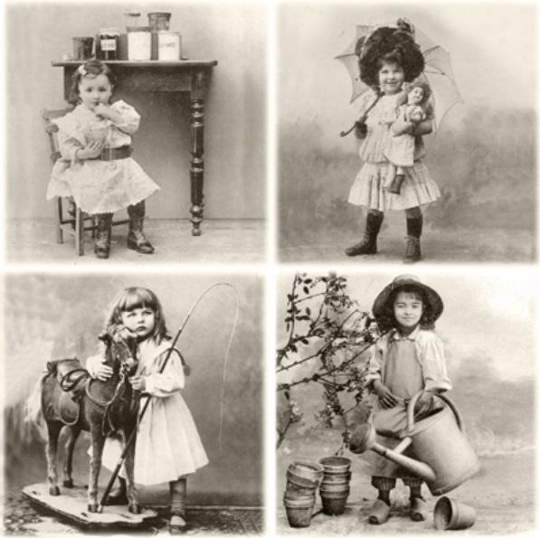 Салфетки для декупажа Маленькие дети Sagen Vintage Design купить