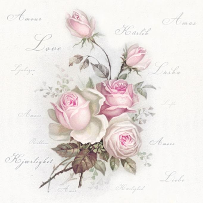 Салфетки для декупажа Любовь и розы, Sagen Vintage Design купить
