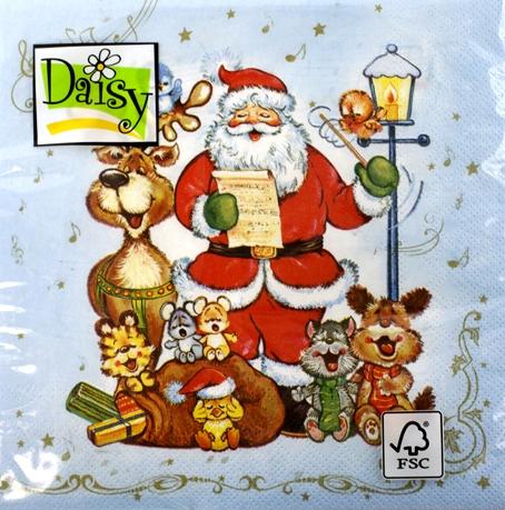 Салфетки для декупажа Рождественские гимны, SLGW002802, купить, интернет магазин АртДекупаж