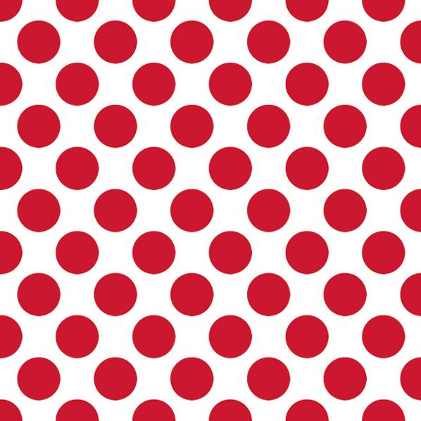 Салфетки для декупажа Крупный красный горох на белом, купить - магазин АртДекупаж
