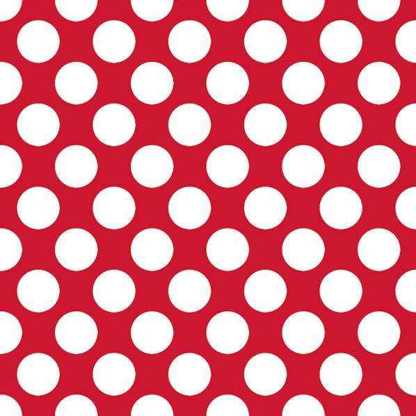 Салфетки для декупажа Крупный белый горох на красном, купить - магазин АртДекупаж