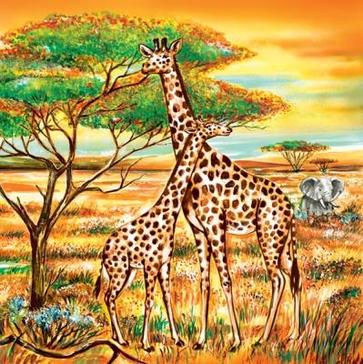 салфетки для декупажа Африка, жирафы