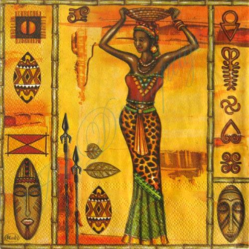 Декупажные салфетки, Африканские женщины, купить