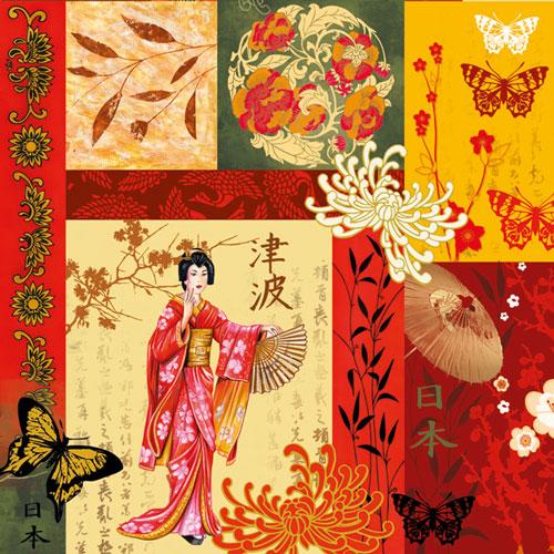 Декупажные салфетки Япония, японский орнамент, купить