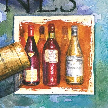 Салфетки для декупажа бумажные Вино, вочки с вином, бутылки, купить, Москва