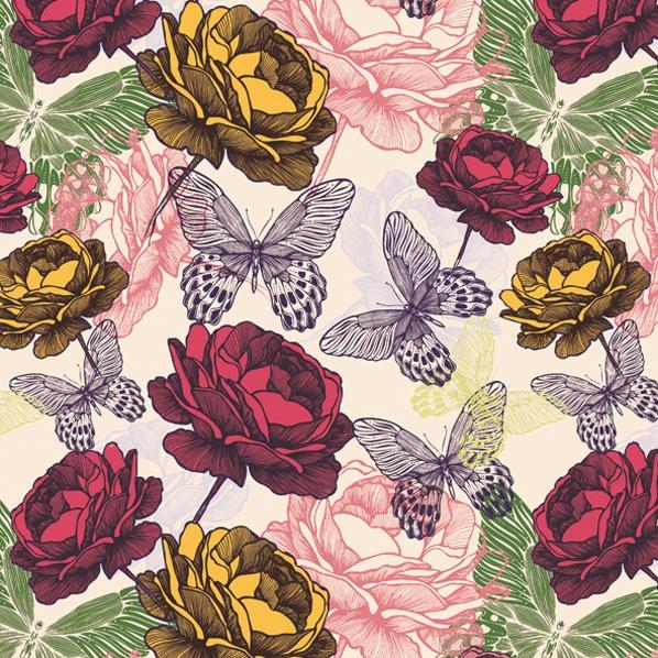 салфетки для декупажа Розы и бабочки, купить