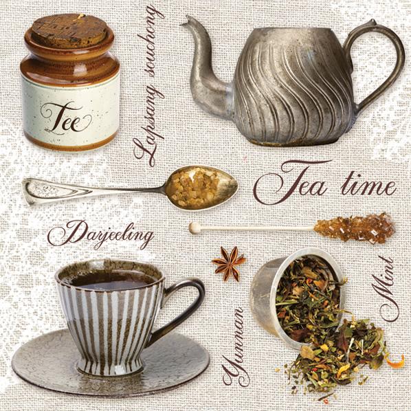 салфетки для декупажа Время чая, купить