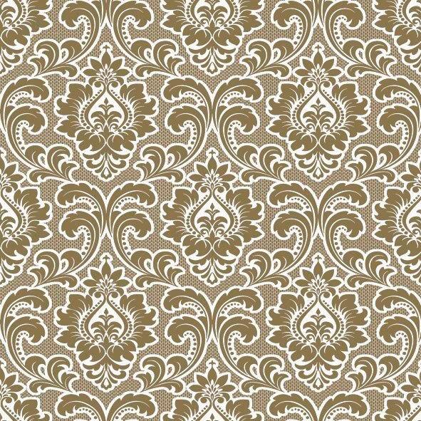 салфетка для декупажа Орнамент барокко золотой