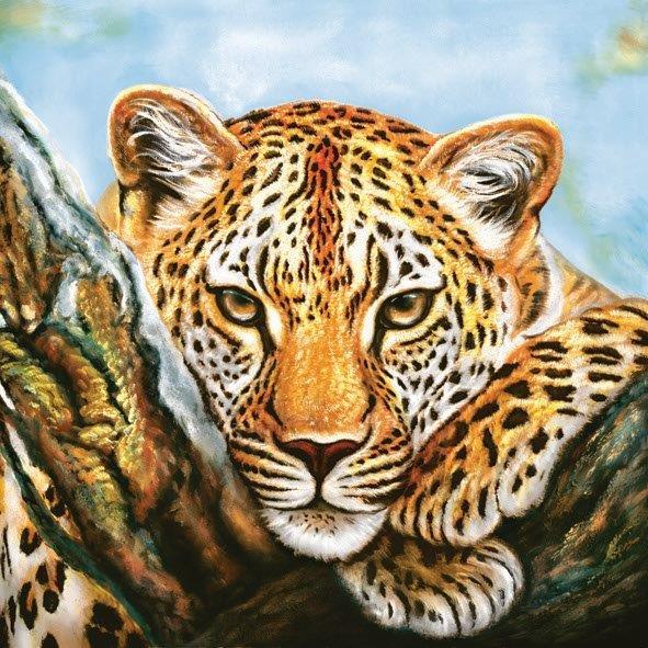 салфетка для декупажа Леопард