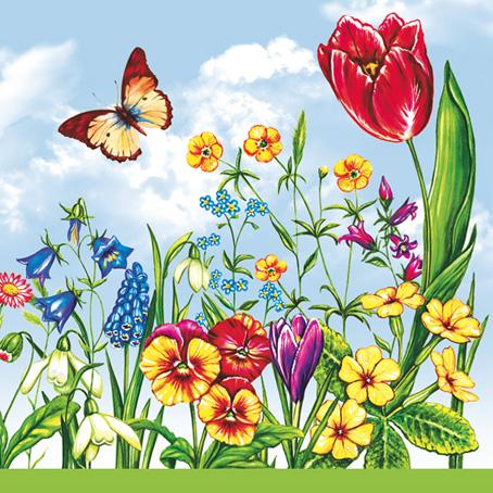Салфетки для декупажа Весенние цветы, цветы, купить, Москва