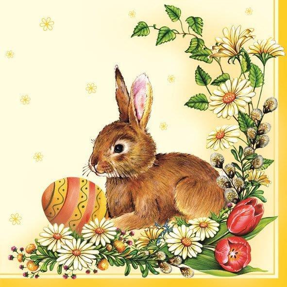 салфетка для декупажа Пасхальный кролик