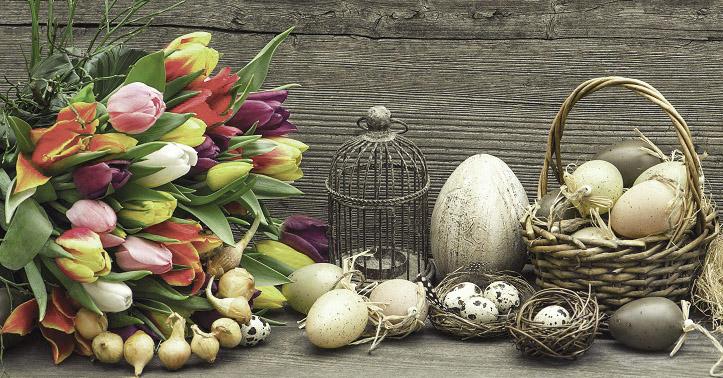 салфетка для декупажа Тюльпаны и птичьи яйца, АртДекупаж
