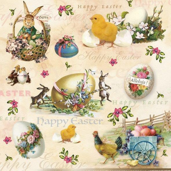 салфетка для декупажа Счастливой Пасхи