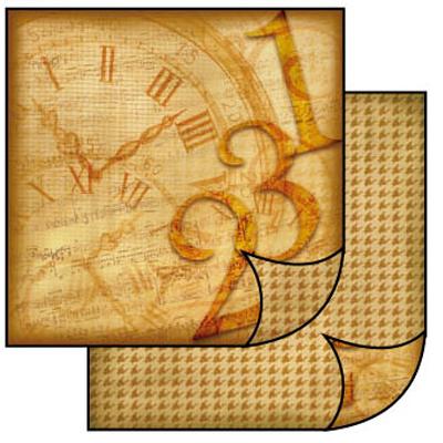 Бумага для скрапбукинга двусторонняя Часы Stamperia SBB097