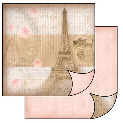 Бумага для скрапбукинга двусторонняя Париж, купить