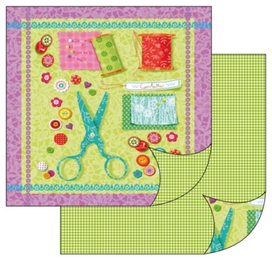 Бумага для скрапбукинга двусторонняя шитье, рукоделие купить