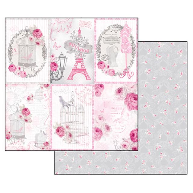 Бумага для скрапбукинга La Vie en Rose Stamperia SBB324