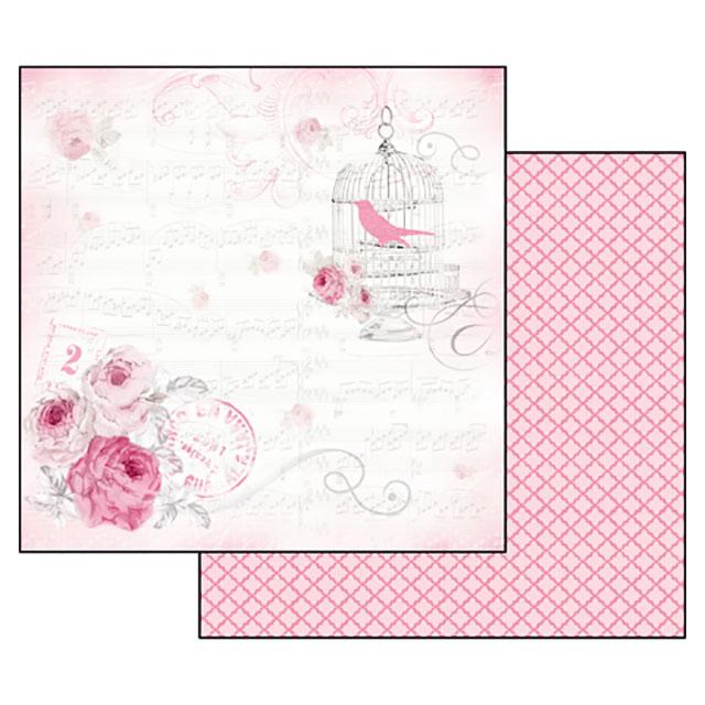 Бумага для скрапбукинга La Vie en Rose, музыка Stamperia SBB325