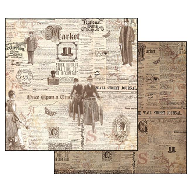 Бумага для скрапбукинга Старые газеты Stamperia SBB327