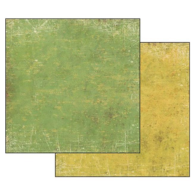 Бумага для скрапбукинга Текстура Зеленый и Желтый Stamperia SBB340