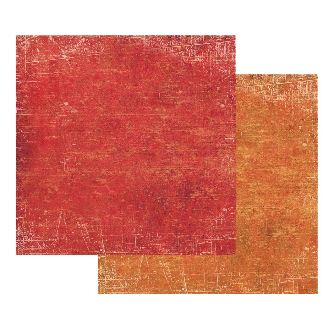 Бумага для скрапбукинга Текстура Красный и Оранжевый Stamperia SBB341