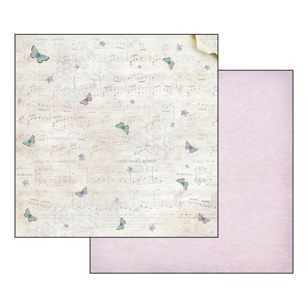 Бумага для скрапбукинга Музыка и бабочки Stamperia SBB347