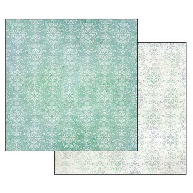 Бумага для скрапбукинга Бирюзовыый орнамент Stamperia SBB349