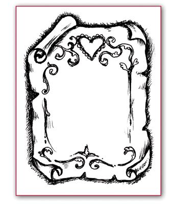 Штампы силиконовые для скрапбукинга, штамп пергамент Stamperia WTK019