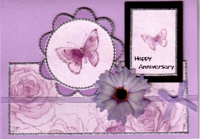 Объемные наклейки Маргаритки, лиловые и белые, для скрапбукинга и кардмейкинга