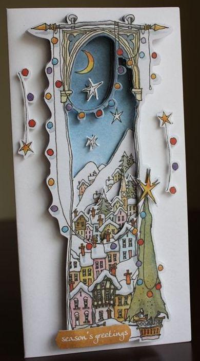 """Вырубка для скрапбукинга новогодняя """"Заснеженное Рождество"""", Michael Powell, DoCrafts"""
