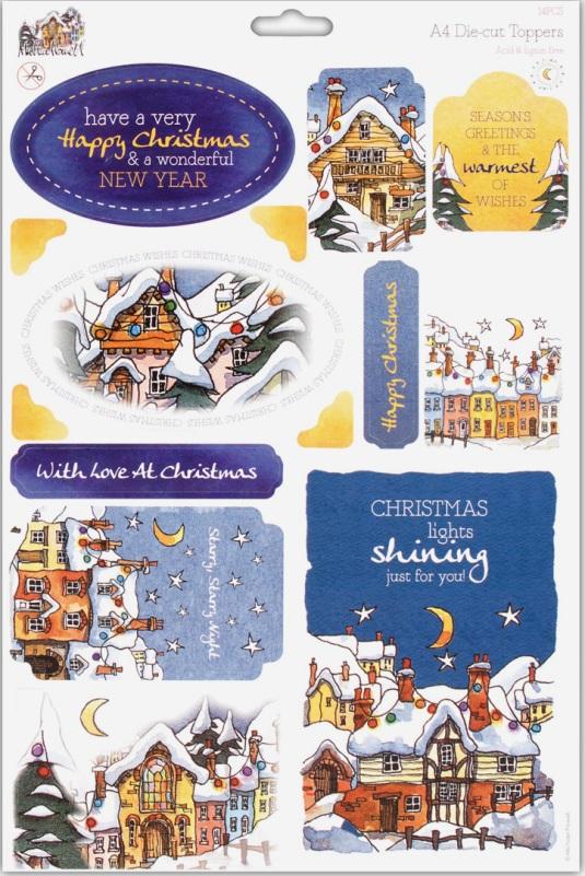 Высечка для скрапбукинга, новогодние рисунки Майкла Пауэла, купить