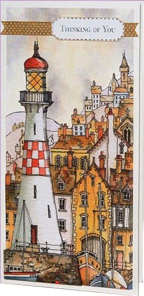 Набор для изготовления открыток Маяк рисунок Майкла Пауэла