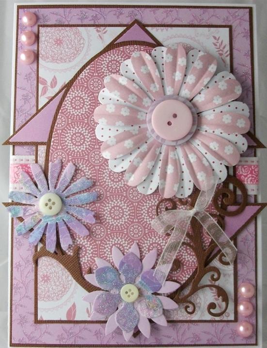 Набор ленточек розовых, коллекция Parkstone Pink - магазин АртДекупаж